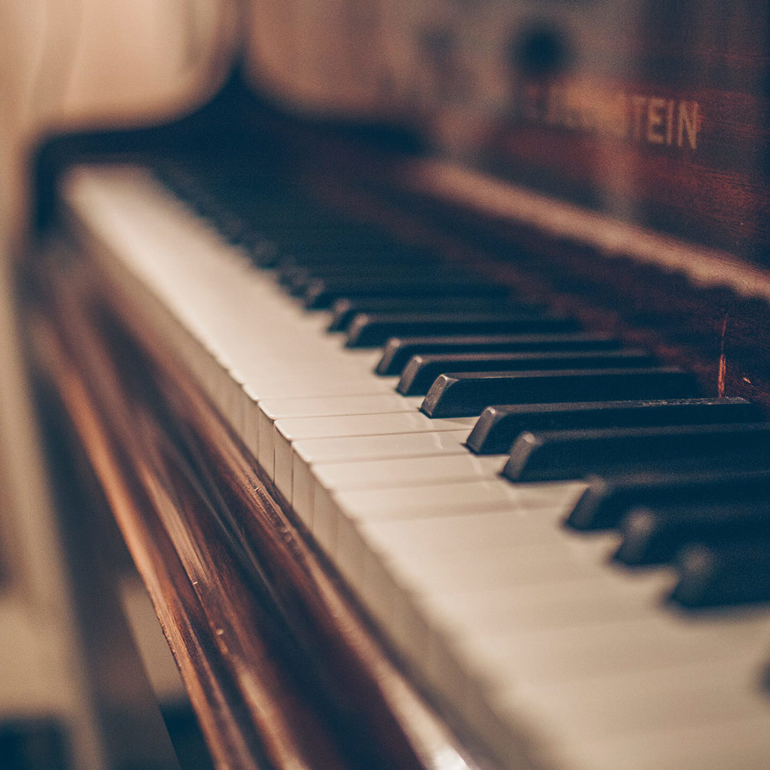 Piano with white keys
